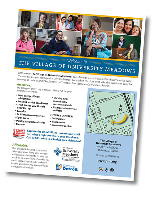 University Meadows Sales Sheet